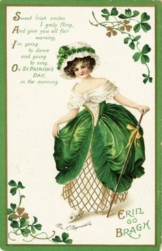 Erin go Bragh – Young Lady Dressed in Green and White Best Picture For Patrick day quotes For Your Taste You are looking for something,. Vintage Ephemera, Vintage Cards, Vintage Postcards, St Patricks Day Cards, Happy St Patricks Day, Saint Patricks, Erin Go Bragh, St Patrick's Day Crafts, Irish Blessing