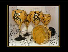 Tiger Eye Wine Glass by GranArt on Etsy, $20.00