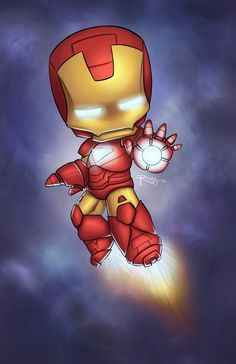 This is such an adorable drawing of ironman...hehe so tiny and small eue
