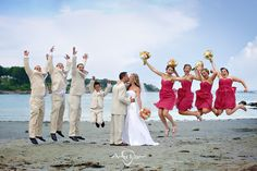 Such a fun Maine/beach wedding!