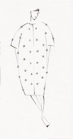 Designer's sketch of ESME VIE Summer 2014