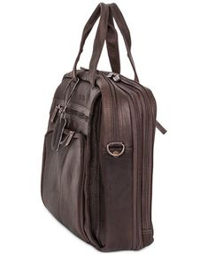 Image 4 of Kenneth Cole Reaction Columbian Leather Expandable Double Gusset Laptop Briefcase