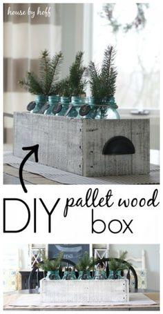 DIY Pallet Wood Box Centerpiece
