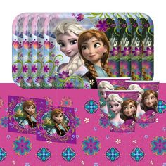 Disney Frozen Elsa Anna Children's Birthday Party Tableware Pack For 8 #Disney #Frozen https://twitter.com/BandPUSA