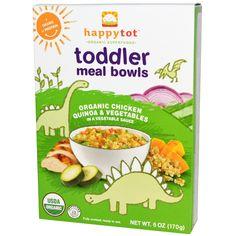 Nurture Inc. (Happy Baby), Happytot, Toddler Meal Bowls, Organic Chicken Quinoa & Vegetables, 6 oz (170 g) - iHerb.com