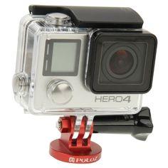 PULUZ CNC Camcorder Mount Adapter to Tripod Stand for GoPro HERO4 /3+ /3 /2, Xiaomi Yi, SJ4000, SJ5000, SJ6000(Red)