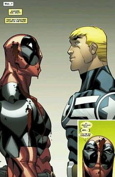 Captain America and Deadpool, they're the opposite but I love these two *-*