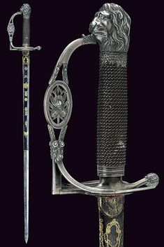 Swords And Daggers, Knives And Swords, Small Sword, Templer, Medieval Weapons, Arm Armor, Cold Steel, Fantasy Weapons, Katana