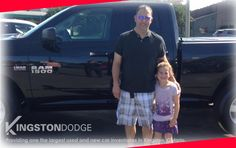 Shawn and his daughter are ready to drive away in their new RAM truck. Thanks for your business. #happyclient #kingstondodge #Ramtruck