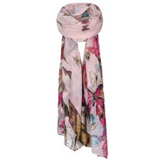 BUTTERFLY BORDER PRINT SCARF (540 RUB) found on Polyvore