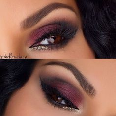art@anastasiabeverlyhills brow wiz in med brown and brow gel in clear, single shadows in Orange Soda, Sienna, Noir and Deep Plum mixed with the Plum shade in the @motivescosmetics Element Color Box Palette, LBD gel liner @nyxcosmetics jumbo pencil in milk and black bean @shopvioletvoss glitter in Goldie @hudabeauty lashes in Giselle @hairandmakeupaddiction brushes to create this look! #tb