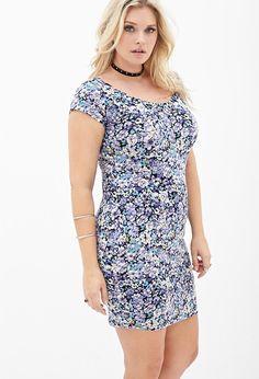 Floral Print Bodycon Dress #F21Plus