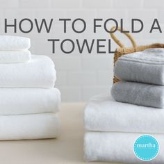 folding clothes Folding thick bath towels is easier than you think. Watch, then try for yourself. Itll make laundry day that much easier.