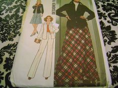 SIMPLICITY SEWING PATTERN SIZE MAXI SKIRT JACKET SZ 14 PLUS #SimplicityNewLook