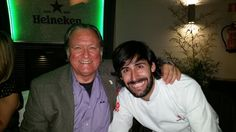 Gerry Dawes and Chef Javier Muñoz at Restaurante Palacio de Cibeles, Madrid, November 2015.