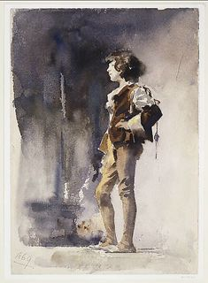 John Singer Sargent (American, Boy in Costume, early The Metropolitan Museum of Art, New York. Traditional Paintings, Traditional Art, Watercolor Portraits, Watercolor Paintings, Watercolours, Oil Paintings, John Singer Sargent Watercolors, Beaux Arts Paris, Sargent Art