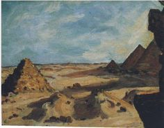 Winston Churchill ~ Near the Pyramids, 1921