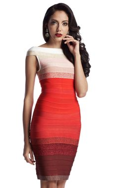 Ombre Red Bandage Dress | The Kewl Shop - A stunning red gradient bandage dress with elegant yet hot appeal. Is appropriately sexy and is good for both a day time or night time event. In this dress the versatility is sophisticated and will leave you feeling truly awesome. An easy to rock dress and a must buy