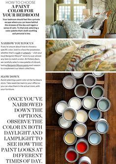 Choosing Bedroom Paint Colors & Choosing Bedroom Paint | Pottery Barn