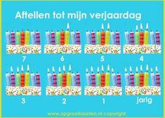 aftelkalender verjaardag kind 7 jaar. Ook andere leeftijden te vinden op de website