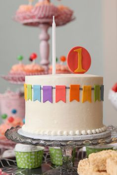 Bunting Birthday Cake party garland teaparty firstbirthday cupcakes......adorable at any age!