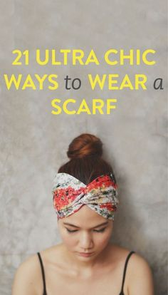 Who knew there were so many great ways to wear a scarf! #ReclaimedBrands #Scarf #Chic