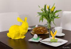 3D-Hase aus Papier