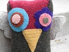 Gorgeous felted sweater bird softie