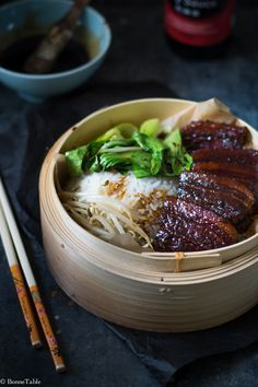 Pork belly braised in rice wine