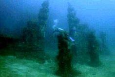 Lost undersea temple near Pemuteran, Bali.