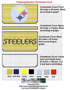 Steelers checkbook cover