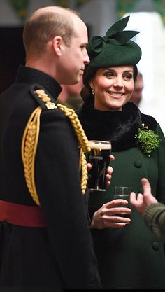 Prince William, Duke of Cambridge and Catherine, Duchess of Cambridge braved chilly conditions to celebrate St Patrick's Day today by attending a parade of the Irish Guards on March 17, 2018