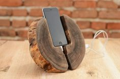 Wooden iPhone 6s Docking Station Wood iPhone 6 Dock Wooden iPhone 6 holder Gift ideas iPhone 6s stand