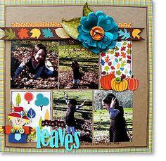 fall layout on Bella Blvd blog (ScrapRoom team)