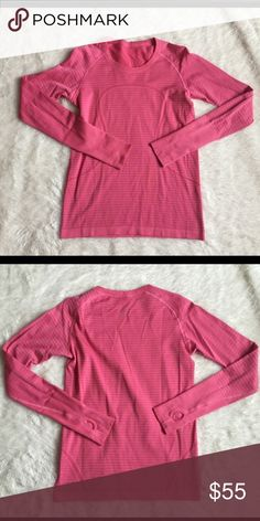 Lululemon run swiftly long sleeve shirt In really good condition. Only wore a handful of times and I always wash exact to care instructions. lululemon athletica Tops Tees - Long Sleeve