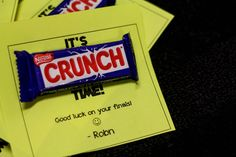 Nice idea for something to give residents around stressful finals and midterms!