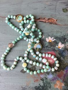 A personal favorite from my Etsy shop https://www.etsy.com/listing/233767650/carribbean-dream-sea-foam-blue-green