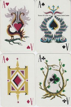 playing cards by Jean Picart le Doux, 1957 Cool Playing Cards, Cool Cards, Ace Of Hearts, Card Games, Game Cards, Deck Of Cards, Texas, Tarot Cards, Game Design