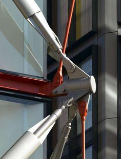Estructura metal mecánica con acento de color.