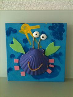 Bricolage crabe avec coquillage