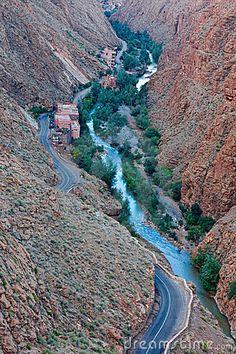 River through Todra Gorge, High Atlas, Morocco