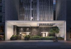 Entrance Design, Entrance Gates, Facade Design, Exterior Design, New York Architecture, Architecture Details, Retail Architecture, Tower Apartment, High Building