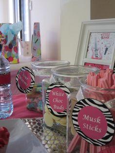 "Photo 10 of 24: pink, black and zebra! / Birthday ""Rockstar Diva Party""   Catch My Party"