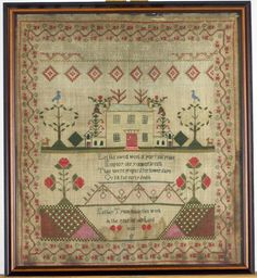 Needlework Sampler, Wrought by Esther Tyson : Lot 436