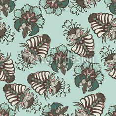 Lush Flora Baltic designed by Rebecca Wismeg available on patterndesigns.com