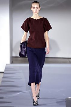 A simple but luxurious tee by Jil Sander Fall 2013 RTW #runway