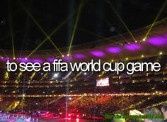 To see a fifa world cup game- {Bucket List}