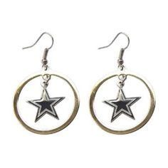 Dallas Cowboys Hoop logo Earring Set Charm Gift (Misc.)