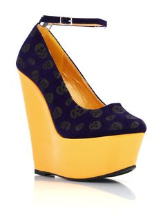 Skull Print Wedges from Go Jane - $20.95 on sale (Was $41.10)  Like the purple/gold colour combo but the shape is a bit odd.