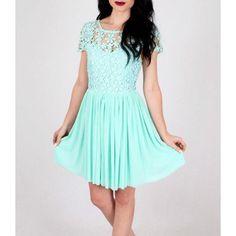 Pretty Mint Crochet Dress